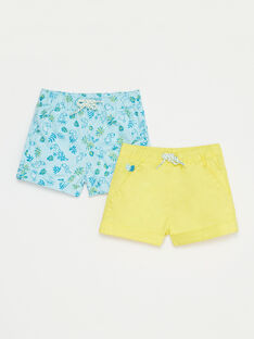 Pale turquoise PACK OF SHORTS TIYANN / 20E1BGM1LSH203