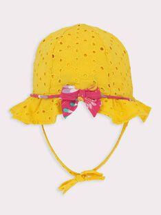Baby-Hut für Mädchen, gelb TAINES / 20E4BFG1CHA010
