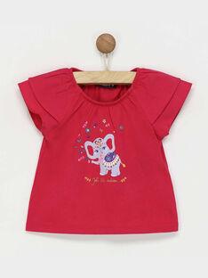 Kurzärmeliges T-Shirt, fuchsienrot RAREBECA / 19E1BFM1TMC304