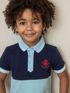 Baby Junge marineblau und Himmel Polo ZITROIFAGE / 21E3PGT1POLC214
