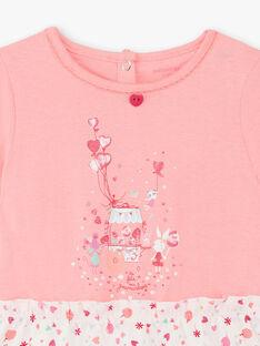 Rosa und weiße Nachthemd kleines Mädchen TEJIRETTE / 20E5PFE1CHN318