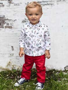 Einfarbig rote Hose für Baby-Jungen BABROOK / 21H1BG11PAN050