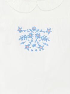 T-Shirt mit Ärmeln und Kragen Claudine baby girl ZAPLUME / 21E1BFT1BRA001