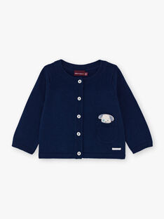 Marineblaue Strickjacke für Jungen BORTOLO / 21H0CG41GIL070