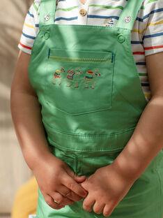 Kurze Baby-Latzhose für Jungen, mandelgrün TARABI / 20E1BGQ1SAC611