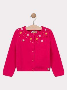 Cardigan für Mädchen, rosa TOUPETTE / 20E2PFG1CAR302
