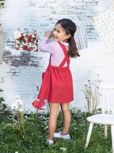 Bestickte rote Latzhose Kleid Kind Mädchen BAROBETTE / 21H2PF11CHSF505