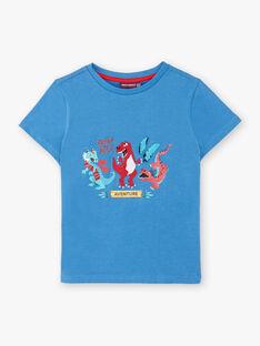 Blaues T-Shirt mit Dinosaurier-Druck ZADRISAGE / 21E3PGJ2TMCC206