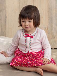 Baby Mädchen blass rosa Weste TASUZIE / 20E1BFQ1CARD317