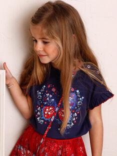 T-Shirt mit kurzen Ärmeln blauer Horizont Kind Mädchen ZOTISETTE / 21E2PFB1TMC216