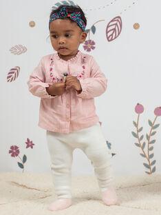 Karierte Bluse und Strickleggings für Baby Mädchen BAGULIE / 21H1BF91ENSD329