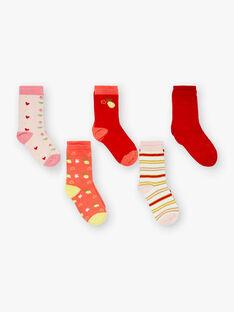 Satz von 5 Paar Socken Zitrone und Herz ZOUTAETTE / 21E4PFK1LC5F507