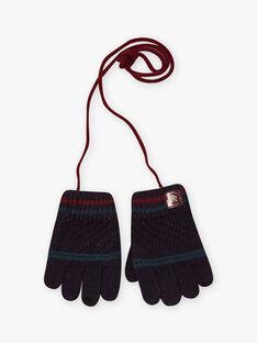 Fancy gestrickte Handschuhe blau petrol Kind BAGANTAGE / 21H4PGD1GAN715