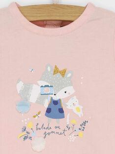Rosa kurzärmeliges T-Shirt RADELPHINE / 19E1BF61TMC301