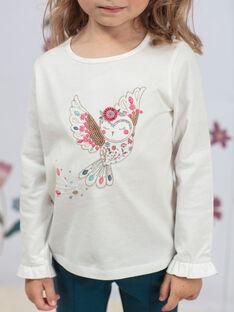 Weißes und rosa T-shirt Mädchen BOSANDETTE / 21H2PF91TML001