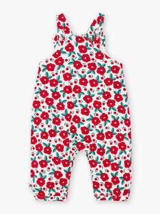 Baby Mädchen floral print Latzhose BAAGATHE / 21H1BF11SAL001
