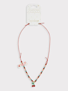 Halskette für kleine Mädchen, kirschrot TUCOLETTE / 20E4PFK1CLI050