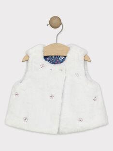 Baby-Strickjacke aus Kunstpelz für Mädchen SASANDRA / 19H1BFN1CSM001