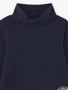 Marineblaue herzförmige Wendepailletten-Unterhose für Mädchen BROSOPETTE2 / 21H2PFF1SPL070