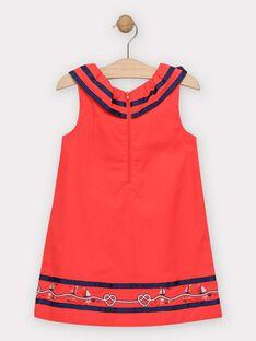 Rotes Volantkleid für Mädchen TUIMIETTE / 20E2PFW1ROBF503