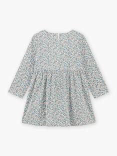 Baby Mädchen lange Ärmel Floral Print Kleid BLADRETTE / 21H2PFO1ROB001