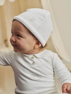 Aus weißem Samt Strampler und Haube für gemischte Geburten BOURGEOIS B / 21H0NMK2GRE001
