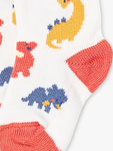 Weiße Dinosaurier-Socken ZAELRAD / 21E4BGB2SOQ001