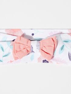 Stirnband mit Blumendruck Mädchen TAQIMY / 20E4BFP1BAN001