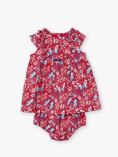 Rotes Kleid für Mädchen ZAFANCHON / 21E1BFB1ROB050