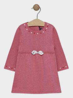 Rosa Baby-Strickkleid für Mädchen SANINI / 19H1BFE2ROB307