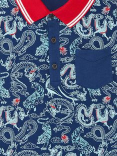 Poloshirt mit Drachenprint Piqué-Poloshirt ZAFENAGE / 21E3PGI1POL705