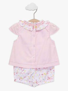 Baby-Playsuit für Mädchen, rosa TALOUANE / 20E1BFJ1CBL321