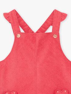 Fuchsia Kord-Overall für Baby-Mädchen BAMARIE / 21H1BFM1CHS304