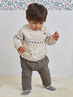 Baby Boy Braun Karierte Hose BASACHA / 21H1BGO1PAN814