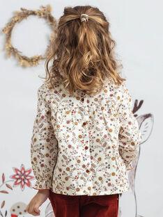Langärmelige geblümte Bluse für Mädchen BUVIETTE / 21H2PFJ1CHE001