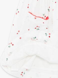 Kleid mit Erdbeerdruck in Ecru ZOLOMETTE / 21E2PFJ1CHS001