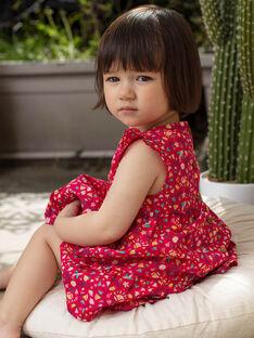 Baby Mädchen Himbeere Rosa gedruckt Kleid TASOLENE / 20E1BFQ1CHSF510