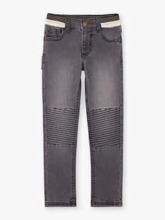 Baby Boy Black Yoke Jeans mit elastischem Bund BASOTAGE / 21H3PG21JEA090