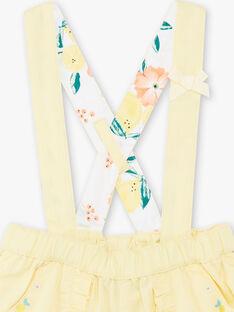 Baby Mädchen zitronengelbe Shorts ZANETTY / 21E1BFO1SHOB104