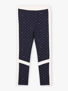 Baby Girl's Marineblaue Leggings mit Tupfen BROLEGETTE / 21H2PF31LGS070