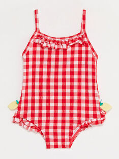 Baby-Badeanzug in Vichykaro Mädchen TICINDY / 20E4BFI1MAI001