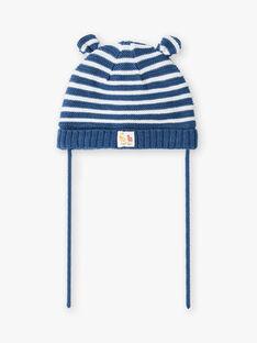 Enzianblau-weiße Fäustlinge Baby Junge ZUBAJIR / 21E4BGM1BONC230