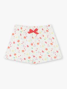 Roter und weißer Pyjama für Mädchen ZEFRUETTE / 21E5PF21PYJ505