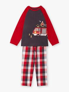 Baby-Jungen-Schlafanzug mit langen Ärmeln und Feuerwehrauto-Animation BEFIRAGE / 21H5PG66PYJ942