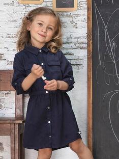 Mädchen Tinte blau Safari Kleid BRORECETTE1 / 21H2PFB6ROBC214