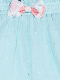Wassergrüner Babyrock Mädchen TAQRISTINE / 20E1BFP1JUP213