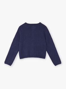 Horizon blaue Strickjacke Kind Mädchen ZOCHINETTE / 21E2PFB1CAR216