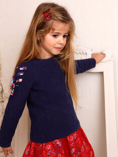 Blauer Pullover Horizont Kind Mädchen ZOPULETTE 2 / 21E2PFB2PUL216