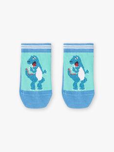 Dinosaurier blau Kontrast Socken ZAFATAGE / 21E4PGJ1SOBG621