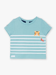 Hellblaues Jersey-T-Shirt ZAIBEY / 21E1BGI2TMC629